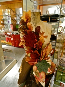 Autumn Sticks Leaves Napkin Earth Tones Red Maroon Green Hunting Camo Berries Fall