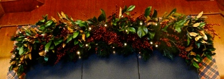 Holiday Garland Polo Ralph Lauren Plaid Magnolia Leaves