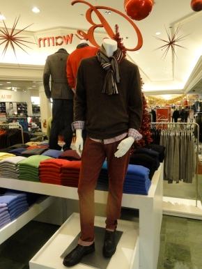 Men's Fashion Holiday Cashmere Autumn Winter Fall Brown Scarves Maroon Sputnik Ornament Be Warm Sherman Oaks Macy's
