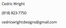 Cedric Wright Contact