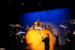 James and the Giant Peach, Village Theatre, KIDSTAGE, Cedric Wright, Puppet, Theatre, Everett, Issaquah, Washington, Seattle, Robert Bresee, Children's Theatre, Prop, Properties, Prop Artisan, Puppeteer, Earthworm, Centipede, Ladybug, Spider, Grasshopper