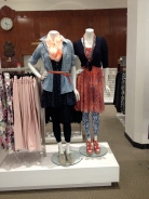 Cedric Wright, Hue Leggings Spring Fashion Lookbook Scarf Belt Beads Colorful Display Visual Merchandising