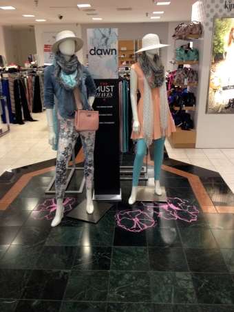 Cedric Wright, Floral Pastel Garden Hat Nine West Hue Fashion Spring Fresh Display Visual Merchandising
