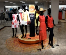 Cedric Wright, Sun Vinyl Decal Fashion Bright Red Yellow Orange Neon Sunshine Warm Weather Display Visual Merchandising