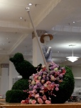 Cedric Wright, Floral Parasol Topiary Spring Garden Party Seattle Fashion Visual Merchandising