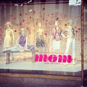 Cedric Wright, Mother's Day Floral Petals Rain Raindrops Fashion Seattle Window Display Visual Merchandising Impulse