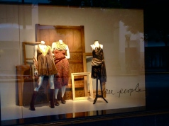 Cedric Wright, Free People Vintage Repurpose Frames Old Doors Seattle Fashion Window Display Visual Merchandising Reclaimed